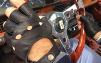 Imagem de Luvas de condução em pele - sem dedos