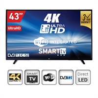 "Imagem de TV LED VOX 43"" UHD 4K Smart Wifi"